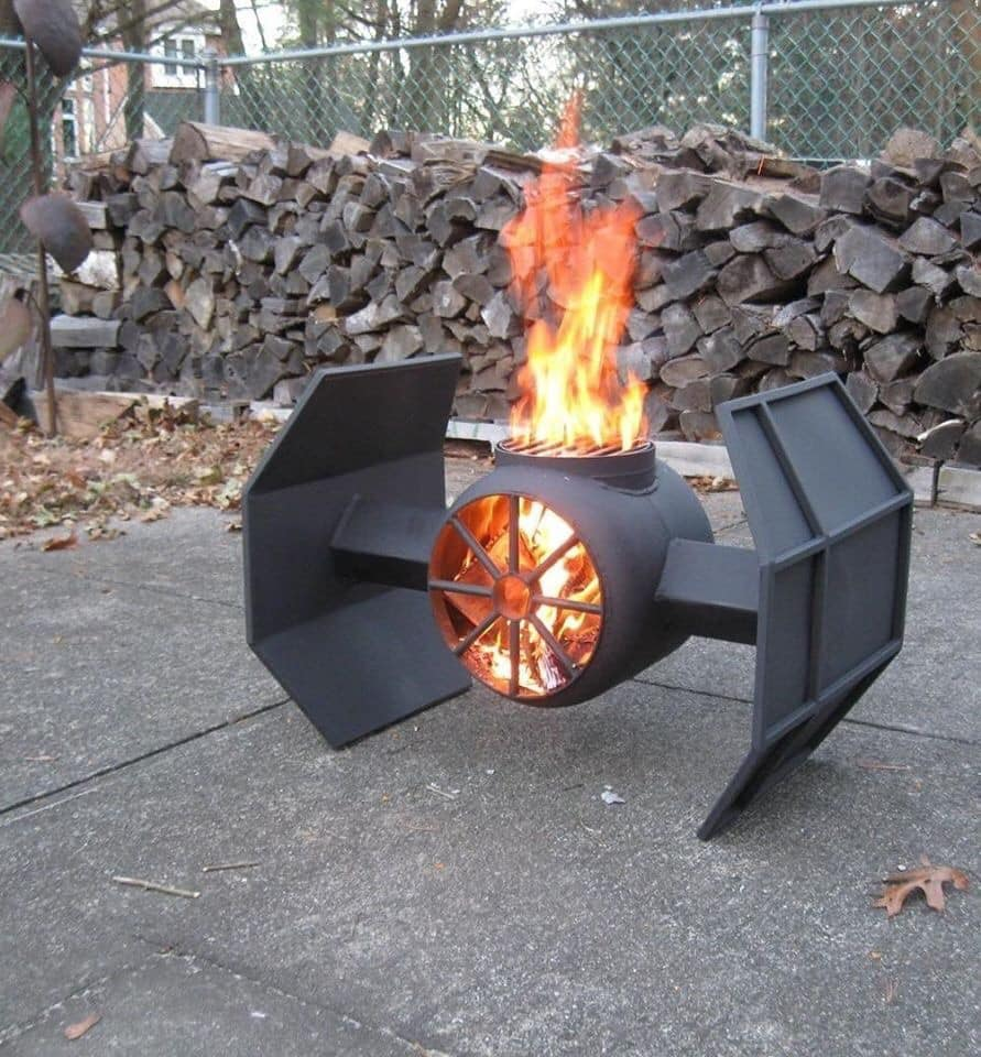 Star Wars Tie Bomber Fire Pit