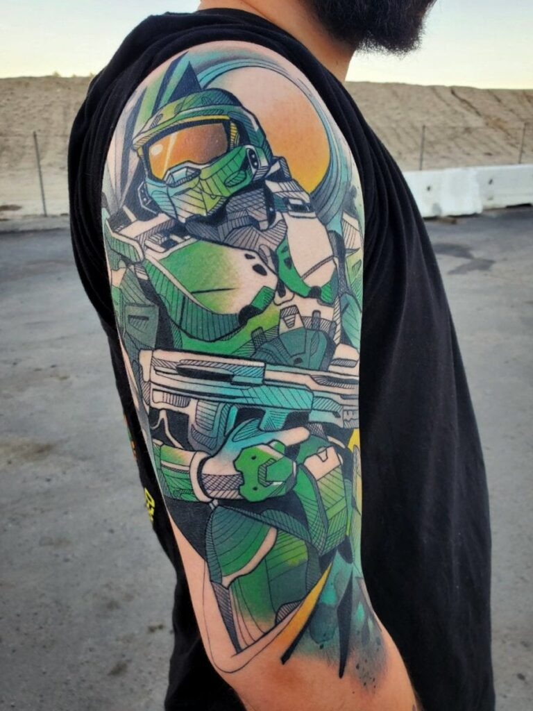 Halo Master Chief Tattoo