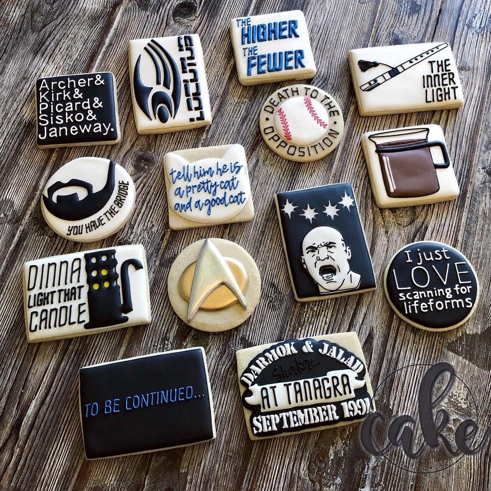 Star Trek Sugar Cookies