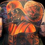Amazing Darth Vader full back tattoo [pic]
