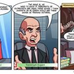Video games as terrorist training tools [cartoon]