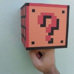 DIY real life Super Mario Bros working coin block