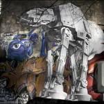 Amazing Star Wars AT-ST & AT-AT Street Art [Pics]
