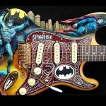 Spider-man, Batman and Superman Guitar [pic]