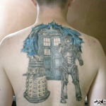 Doctor Who back tattoo [pic]