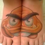Super Mario Bros Goomba Foot Tattoos [pic]