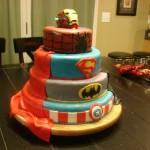 4-Tier Comic Book Superhero Birthday Cake [pic]