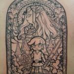Stunning Legend of Zelda Windwaker Full Back Tattoo [pic]