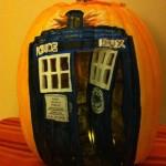 Doctor Who TARDIS Pumpkin Carving [pic]