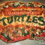 Teenage Mutant Ninja Turtle Logo Pizza [pic]