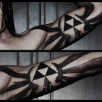 Awesome Legend of Zelda Triforce Bicep Tattoo [pic]