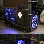 Battlefield 3 Case Mod with Chain Gun and Drink Cooler [pic + video]