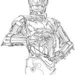 C-3PO Continuous Line Drawing [pic]