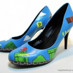 Amazing Super Mario Bros Hand Painted High Heels [pic]