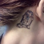 Forget Coins, You Have an R2-D2 Tattoo Behind Your Ear [pic]