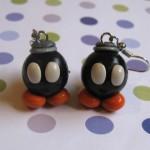 Super Mario Bros Bob-omb Earrings [pic]