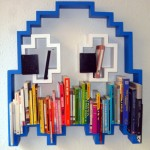 3D Pac-Man Ghost Bookshelf [pic]