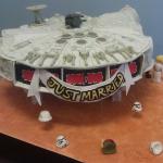 Sweet Millennium Falcon Wedding Cake [pics]