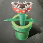 3D Piranha Plant Sidewalk Chalk Art [pic]