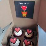 Legend of Zelda 8-Bit Heart Cupcakes [pic]
