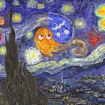 Pac-Man Invades Van Gogh's Starry Night Painting [pic]