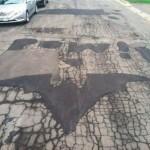 Batman Fixes Potholes When Not Fighting Crime [pic]