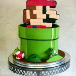 Super Mario in a Warp Pipe Cake [pic]
