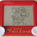 Super Mario Bros Etch-A-Sketch Art [pic]