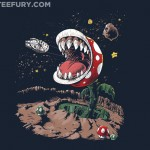 Super Mario Bros and Star Wars Mash-up T-Shirt $10 TODAY ONLY! [pic]