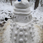 Epic Dalek Snow Sculpture [pic]