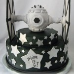 Tie Fighter Birthday Cake [pic]