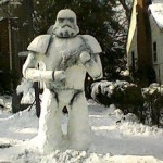 This Stormtrooper Snow Sculpture is Impressive! [pic]