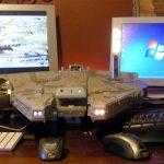 The Millennium Falcon Dual PC/MAC Case Mod [pic + video]