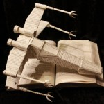 Papercraft X-Wing Made from the Pages of Star Wars Books [pic]