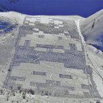 Gigantic Mountainside 8-bit Space Invaders Snow Art [pics]