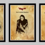 Batman Begins, Dark Knight, and Dark Knight Rises Poster Set