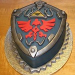 Mom Bakes Amazing Legend of Zelda Hylian Shield Cake for Her Son