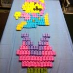 Super Mario and Piranha Plant Made From Marshmallow Peeps