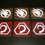 Beautiful Command & Conquer GDI and NOD Wooden Coasters [pic]