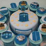 Fantastic Doctor Who Cupcakes and Birthday Cake