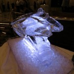 Millennium Falcon Ice Sculpture