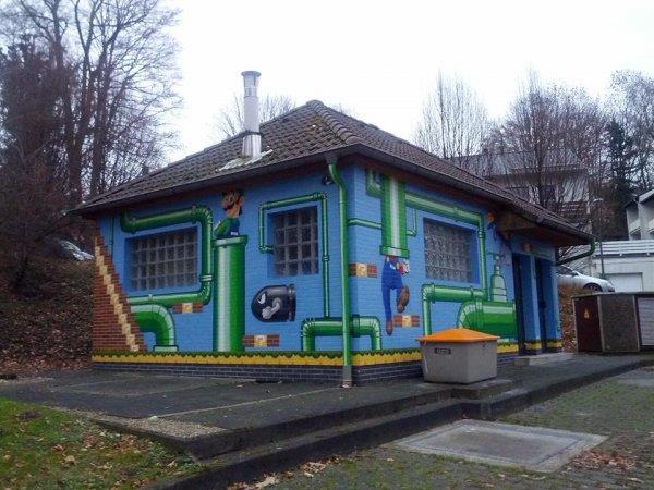 Super Mario Painted Utility Building