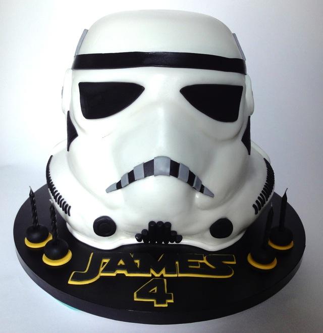 Stormtrooper Helmet Birthday Cake