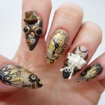 Stunning Steampunk Fingernail Art