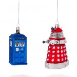 Doctor Who TARDIS, Dalek and Cyberman Christmas Tree Ornaments