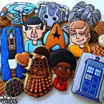 Fantastic Star Trek and Doctor Who Cookies