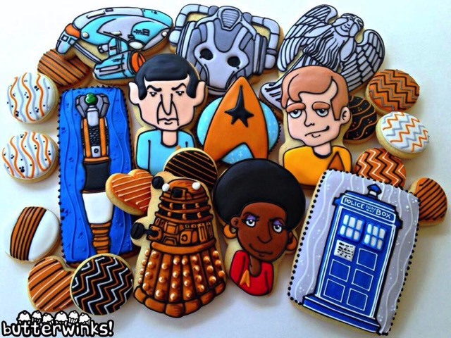 Star Trek and Doctor Who Cookies