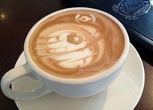 Star Wars Death Star Latte Art
