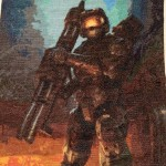 Amazing Halo Master Chief Cross-Stitch