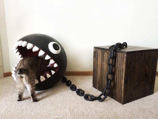 Super Mario Bros Chain Chomp Cat Bed